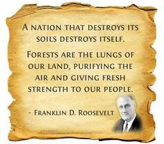 A quote by Franklin Roosevelt describing the important symbiosis between the planet's health and our own. Follow this board for regularly updated health quotes to live by!