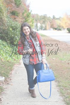 """I'm back with another edition of my """"Ways to Wear"""" series… (see a few previousposts here, here, here,here, and here) this week I wanted to show three different ways to wear the beloved herringbone vest. My vest is the 41Hawthorn Herringbone Vest with Black Piping from Stitch Fix. Here's another great option. There's a dressier, …"""