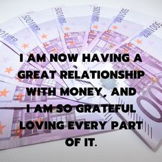 Yes I am loving money and money loves me too. Money Affirmations, Positive Affirmations, Affirmation Quotes, Encouragement Quotes, Positive Thoughts, Positive Vibes, Great Quotes, Inspirational Quotes, I Love You God