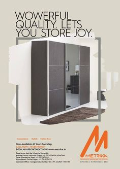 Happiness Organised Just For You!  ☺️ Wowerful Quality. Let's You Store Joy. 👈  ➡️ This is brand new Wardrobe and Beds. Our Store At Your Door Step. 👈 📞 Call us for Enquiry : +91 7738392159 ➡️ Visit Our Web Site: http://www.metrika.in/ #MetrikaKitchens #Modularkitchens #beds #wardrobe #Homemakers #MetrikaDesign #CustomizedKitchenDesign #ModernIdeas #StylishKitchen #EasyCleaning #CustomizedKitchenSolutions #FinishedProduct #BestQuality #IndianHomemakers #design #Mumbai #Pune #Ahmedabad