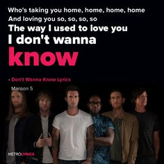 Maroon 5 Don't Wanna Know                                                                                                                                                                                 More