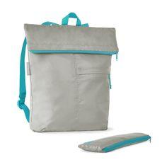 Folding Backpack in Grey