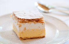 Domáci krémeš | Recepty.sk Sweet Desserts, Dessert Recipes, Eclairs, Cheese Ball, Creme Brulee, World Recipes, Cheddar Cheese, Vanilla Cake, Food To Make