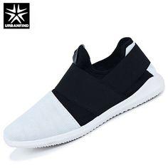 URBANFIND Men Fashion Sneakers Slip-on Footwear Size 39-44 Hot Sale  Breathable Mesh f91874e54e74