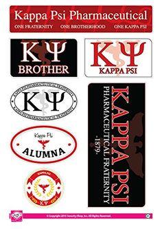 "Kappa Psi Sticker Sheet - Family Theme. 8.5"" x 12"", 7 Stickers Per Sheet. Sorority Shop"