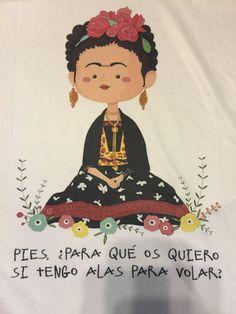 Frida Kahlo Inspired Cartoon Art T Shirt Por