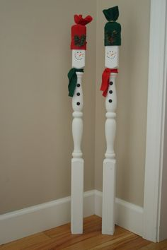 Spindle snowmen