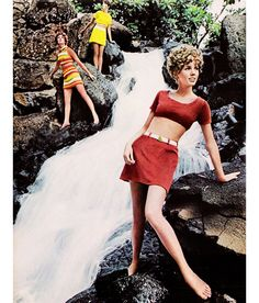 """June 1968. """"Take the newest route to bareness via the mighty midriff waves!"""""""