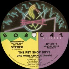The Pet Shop Boys* - One More Chance original release on Bobcat Records/Epic Records.