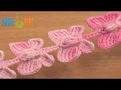 ▶ Crochet Butterfly Cord Tutorial 52 Crochet Butterflies - YouTube