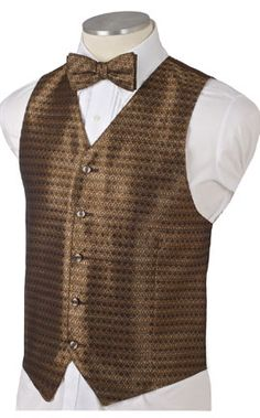 Men's Bronze Gold Diamond Brocade Vest is understated sophisticated elegance. Gold bronze threads woven in a diamond pattern with subtle undertones of navy combine to create this elegant vest. Man Of Honour, Diamond Pattern, Dress To Impress, Vests, Holiday, Christmas, Cheer, Bronze, Elegant