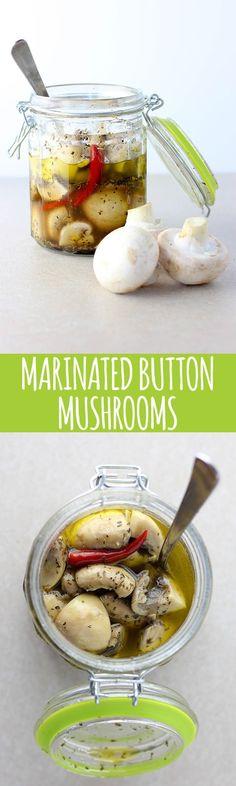 Marinated button mushrooms