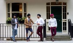 Turbaned Sikh men take their fashion to the streetsThe Singh Street Style blog aims to put Sikh chic on the map and show that wearing a turban doesn't stop people from being creative and individual with their fashion sense