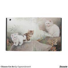 Chinese Cat Art iPad Folio Case