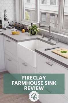 Read Annie and Oak's Fireclay Farmhouse Sink Review.  We have included the Pros, Cons Double Farmhouse Sink, Fireclay Farmhouse Sink, Farmhouse Sink Kitchen, Cottage Kitchens, Kitchen Sinks, Modern Farmhouse Kitchens, Victorian Kitchen, Victorian Farmhouse, Vintage Farmhouse