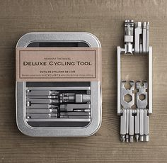 For the Bicyclist enthusiast Deluxe Cycling tool kit. Repairs on the go! Perfect to slip in an under-seat pack or jersey pocket. | 19.99