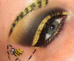 Bumblebee Eyes - I would so do this for Halloween if i was dressed as a sexy bumblebee