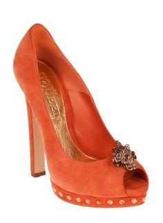 Alexander McQueen Peep Toe Heels