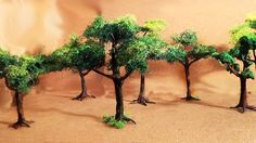 Miniatura (parte 2) Árvores - Miniature (part 2) Trees