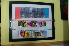 I framed a pic of Grant in the big air contest, and I added a couple colored ropes to hang his last two years of lift ticket stubs on...Happy Birthday kid!!