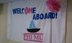 Set sail with Phi Mu!