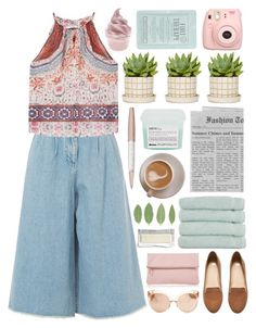 """""""Untitled"""" by lover-of-pie ❤ liked on Polyvore featuring Swarovski, Edit, H&M, MANGO, Davines, Kocostar, Linum Home Textiles, Whistles and Linda Farrow"""