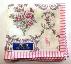 23.76$  Buy here - http://virba.justgood.pw/vig/item.php?t=o3twaq47421 - POLO Ralph Lauren Handkerchief hanky scarf bandana Flower Pink Auth New 23.76$