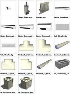 Sketchup HVAC 3D models download – CAD Design | Free CAD Blocks,Drawings,Details