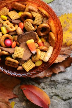 Sweet & Salty Halloween Snack Mix - No Cook, Ready in 2 Minutes, and So Addictive!