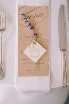 A wedding in Mas de So by Monsieur + Madame (M + M). Theme Provence Chic in . Wedding Table Name Cards, Wedding Table Seating, Wedding Menu, Wedding Stationary, Wedding Paper, Diy Wedding, Wedding Day, Menu Cards, Wedding Decorations