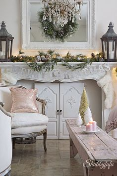 french country cottage christmas/shabbyfufublog.com