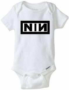 NIN Nine inch Nails Baby Onesie Rocker Snapsuit For Sale Babies Motherhood Pregnancy Baby Shower