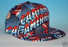 Captain America Fitted Avengers Hat Marvel Comics Heroes NWT New With Tag A-Flex