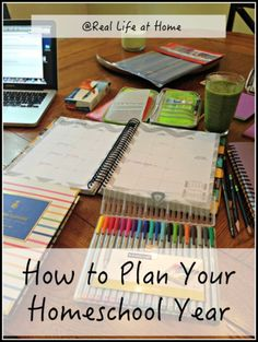 Tips and Ideas for How to Plan Your Homeschool Year