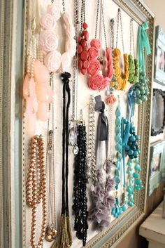 Use a Jewelry Armoire To Store Your Precious Jewelry Pieces Necklace Storage, Diy Necklace, Jewellery Storage, Jewellery Display, Jewelry Organization, Closet Organization, Organization Ideas, Storage Ideas, Jewelry Case