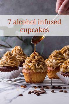 Liquor Cupcakes, Whiskey Cupcakes, Alcohol Infused Cupcakes, Alcoholic Cupcakes, Cocktail Cupcakes, Alcohol Cake, Alcoholic Desserts, Gourmet Cupcakes, Cupcake Flavors
