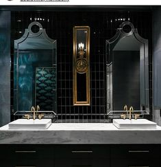Black & Gold 🖤💛 #thebathdesignstudio #themallisgroup #bathdesign #inspiration #interiorinspiration #luxury #luxurybaths #luxuryinteriors #beautifulbathrooms #trends #bathroomtrends #design #fixtures #luxurylifestyle #luxuryhomes - posted by The Bath Design Studio https://www.instagram.com/the_bath_design_studio - See more Luxury Real Estate photos from Local Realtors at https://LocalRealtors.com/stream