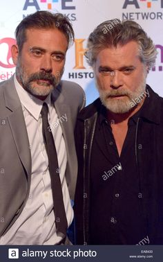 Download this stock image: 2014 A+E Networks Upfront - Red Carpet Arrivals  Featuring: Jeffrey Dean Morgan,Ray Liotta Where: Manhattan, New York, United States When: 09 May 2014 - eab433 from Alamy's library of millions of high resolution stock photos, illustrations and vectors.