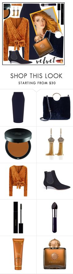 """""""style"""" by sandevapetq ❤ liked on Polyvore featuring Roland Mouret, LC Lauren Conrad, Bare Escentuals, Annoushka, WithChic, Aquazzura, Gucci, By Terry, Lancôme and AMOUAGE"""