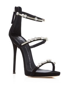 88aae44f0870 Giuseppe Zanotti Coline Triple Strap High Heel Sandals Shoes -  Bloomingdale s