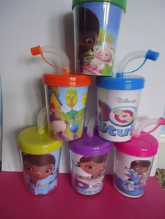 Doc Mcstuffins party favor cups Doc Mcstuffins by SassyCreationz