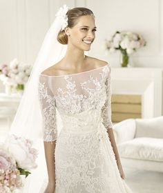 Pronovias Elie Saab Folie 2013 Bridal Collection ♥ Gorgeous Embroidered Lace Wedding Dress ♥