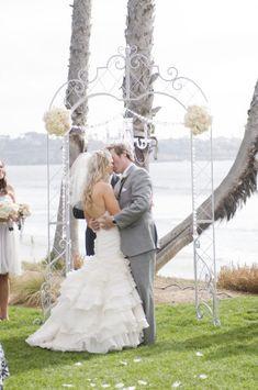 white metal arch wedding altar tabernacle