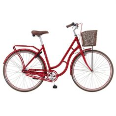 The red and gorgeus MBA Nobly Vintage bike would carry me through the streets of Copenhagen in the utmost graceful manner