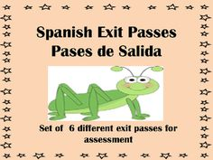 Spanish Exit Passes-Pases de Salida from Spanish Classroom on TeachersNotebook.com -  (7 pages)