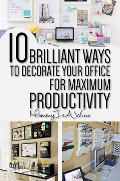Organized Home Office Decor - Productive Work Space - Cute Home Office - 10 Brilliant Ways To Decorate Your Office for Maximum Productivity #homeoffice #officedecor #homeofficedecor #homedecor #decoratedoffice #productiveoffice #officespace