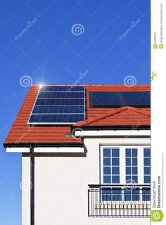 Solar Panel Covered Roof Solar power also known as clean as well as low cost… Solar Power, Solar Panels, Thinking Of You, Outdoor Decor, Paradise, House, Sun Panels, Thinking About You, Solar Energy