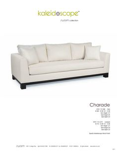 Collection Charade KF91110 S98 Sofa W 98 D 38 1/2 H 36 Arm Height
