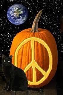 Halloween Peace Sign Art....