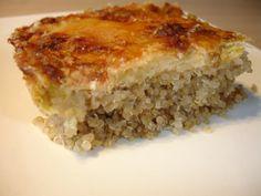 Je vous propose aujourd'hui un gratin à base de quinoa, histoire de changer un peu. Je me suis largement inspiré de la recette du blog 123petits plats que j'ai à peine modifié... Ce gratin est extra, les petites billes de quinoa qui croquent sous la dent...